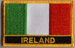 Ireland Embroidered Flag Patch, style 09.